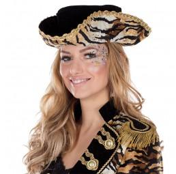 Tiger Dreispitz für Damen