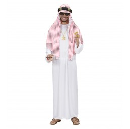 Arabischer Scheich (weiß/rot)