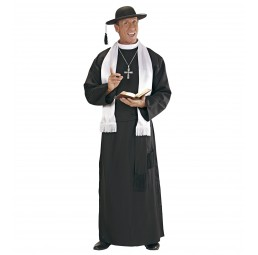 Priester Kostüm - Schwarz/Weiß