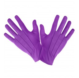 Lila Joker Handschuhe