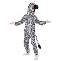 Zebra Kostüm (Overall mit...