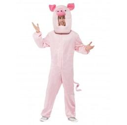 Schwein Kostüm (Bodysuit...
