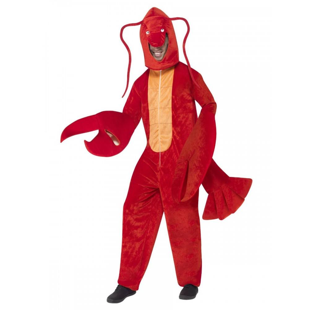 Lobster Hummer Kost üm (Bodysuit mit Kapuze)