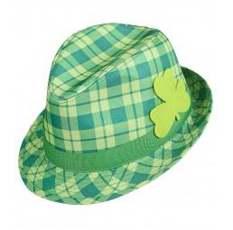 Grüner Kleeblatt Fedora Hut