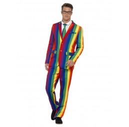 Regenbogen Anzug (Jacke,...