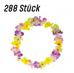 288 bunte Hawaii Blumenketten