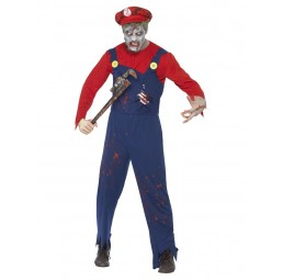 Zombie Klempner Kostüm, Red...