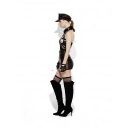 Fever® Polizei Wetlook Kostüm