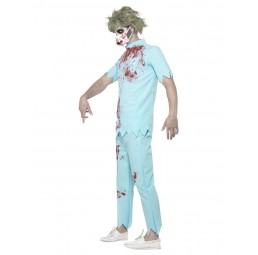 Zombie Zahnarzt Kostüm, blau