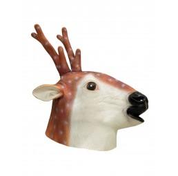Latex Maske - Rentier Reindeer