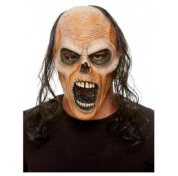 Zombie Maske mit Haaren