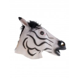 Latex Maske - Zebra
