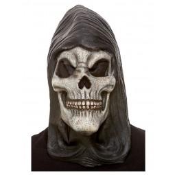 Skelettlatexmaske mit Kapuze