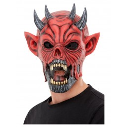 Rote Teufelsmaske aus Latex