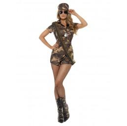 Sexy Army Girl Damen Kostüm
