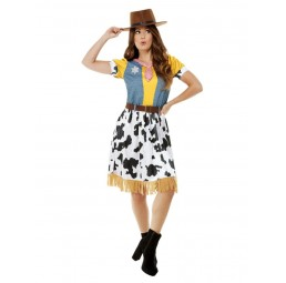 Western Cowgirl Kostüm (Kleid)