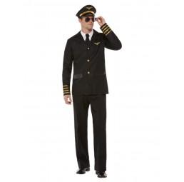 Pilotenkostüm in schwarz...