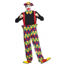 Clown Kostüm mit Hose, Hut...