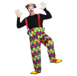 Clown Kostüm mit Hose, Hut...