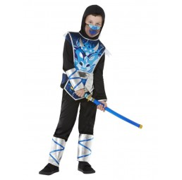 Blaues Ninja Warrior Kostüm