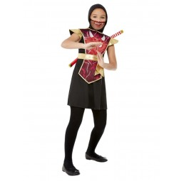 Rotes Ninja Warrior Kostüm