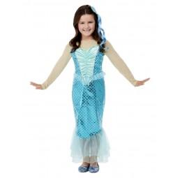 Blaues Meerjungfrau Kostüm