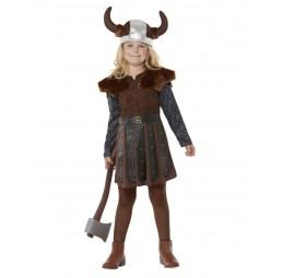 Wikinger Kostüm für Mädchen