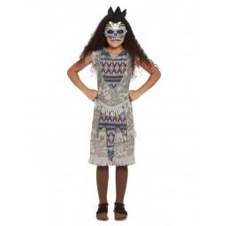 Graues Ureinwohner Kostüm...