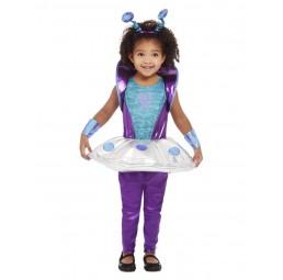 Violettes Alien Kostüm für...