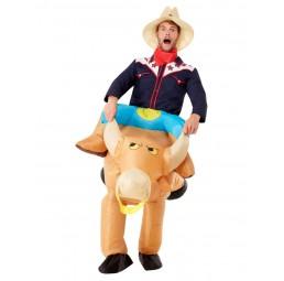 Aufblasbares Bull Rider Kostüm