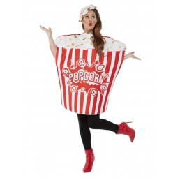 Popcorn Kostüm Rot/Weiß