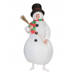 Schneemann Kostüm aufblasbar