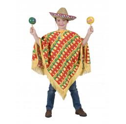 Mexikaner Kostüm Poncho für...