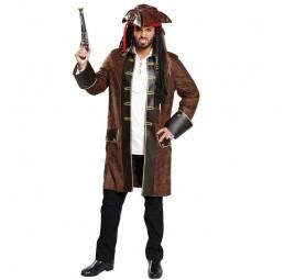 Brauner Herren Piratenmantel