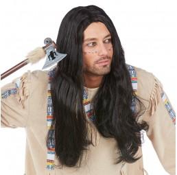 Schwarze Indianer Perücke